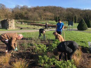 The Gardening Club get busy in the garden