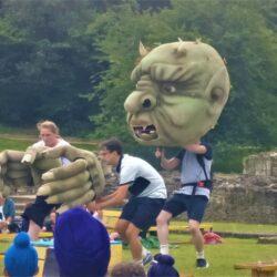 a troll at Lesnes abbey