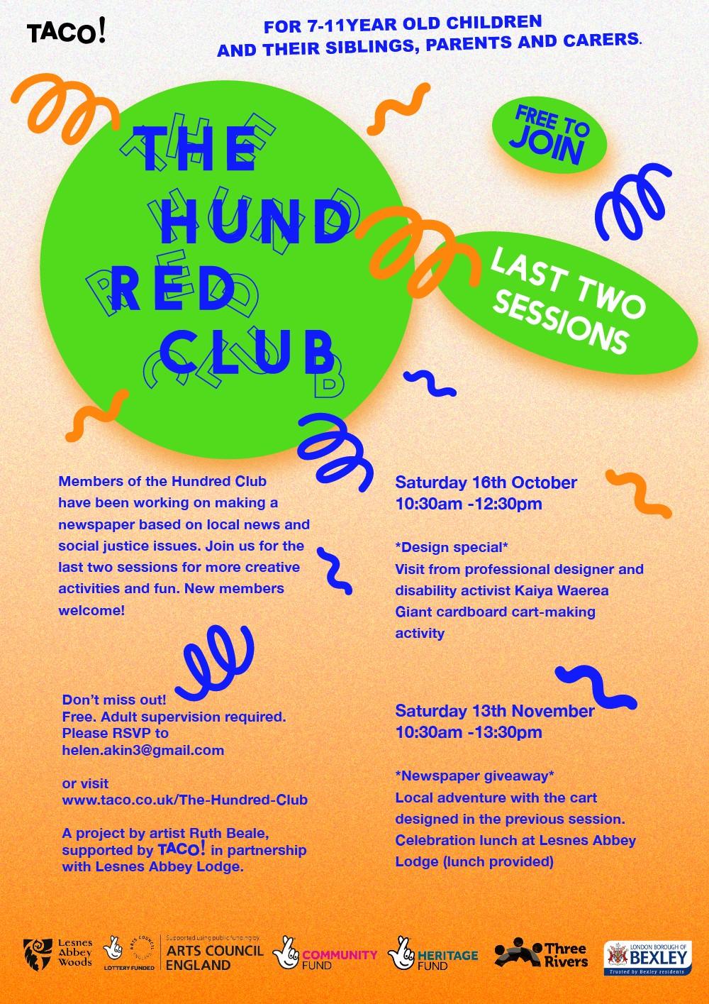 poster for hundred club