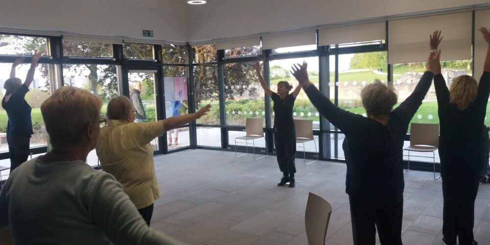 Oonagh leads a tai-chi class