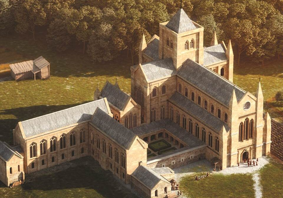 3D impression of how the abbey may have looked